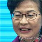 장관,현금,홍콩,제재