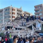 터키,그리스,지진,건물,이즈미르,피해