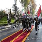 이란,파크리자,장례식,국방부,장관