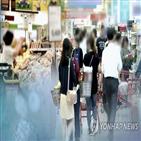 상승률,지원,상승,하락,0.6,통신비,소비자물가,영향