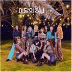 앨범,차트,이달,소녀,기록,미드나잇