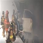 테슬라,화재,사고,주차장
