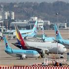 대한항공,아시아나항공,해제