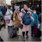 중국,춘제,코로나19,대규모,이동,감염자,확산,확진,연휴