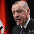 터키,제재,미국,금지,실망,에르도안,지중해