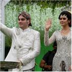 결혼식,스루,드라이브,말레이시아,아들