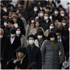 확진,사망자,일본