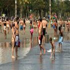 정부,브라질,봉쇄,상파울루주,해변