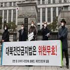 헌법소원,대북전단금지법,살포,대한,대표