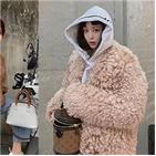 재킷,시어링,선택,매력,한예슬