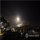 시리아,이스라엘,공습,통신