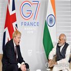 인도,총리,존슨,영국