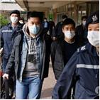 홍콩,홍콩보안법,체포,인사,혐의,이날,검거,홍콩인,정부