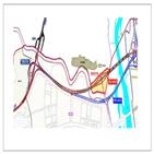 행복도시,외곽순환도로,예정지,미호천