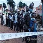무세베니,대통령,와인,투표,선거,우간다,후보,가운데