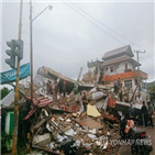 지진,규모,건물,쓰나미,붕괴,명이,인도네시아,발생,6.2