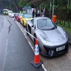 경찰,홍콩,불법,경주,자동차