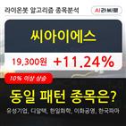 씨아이에스,시각,1031만8839주