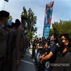 납치,자신,태국,시위대,남성,경찰,체포