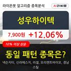 기관,성우하이텍,순매매량