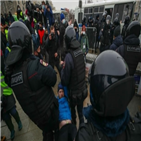 러시아,나발,대해,시위
