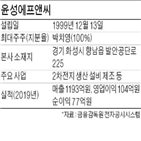 설비,윤성에프앤,상장,생산,2차전지