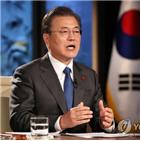 한국,뉴딜,대통령,질의응답,수준
