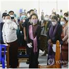 백신,미얀마,접종,코로나19,의료진