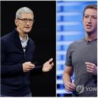 애플,페이스북,광고,이용자,아이폰,보호,사생활,충돌,표적