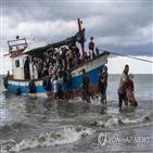 난민,말레이시아,난민선,바다,인도네시아,구조