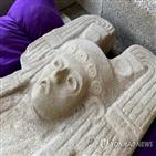 조각상,발견,멕시코,여인,카브레라