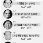 회장,명예회장,경영,정주영,현대차그룹,현대,장남,그룹,일선,KCC