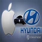 애플,기아,보도,애플카,생산,현대차그룹,현대차,전기차,자율주행,가능성