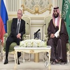 논의,푸틴,왕세자,통화