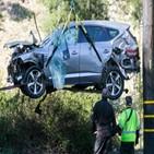 우즈,투어,미국,차량,사고