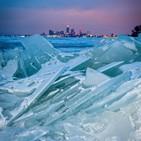 얼음,사고,오대호,호수,조각