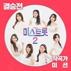 작곡가,미스트롯2,작곡,미션,결승전,음원,히트곡,차트