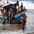 난민,인도,보트,위해,방글라데시