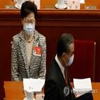 홍콩,중국,재계,정부,선거인단,인사,친정부,행정장관