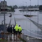 홍수,시드니,주민,호주,피해