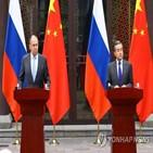 중국,러시아,동맹,양국,미국