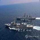 인도,미국,훈련,중국,합동,해군