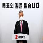 김종인,국민,민주당,심판,선거,위원장,사전투표