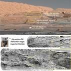 큐리오시티,지층,화성,샤프,기후,분석
