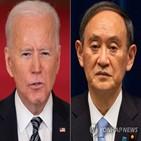 미국,바이든,일본,스가,정상회담,미일,논의
