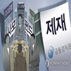 신한은행,제재심,제재,중징계,경고,금감원,우리은행