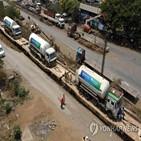 인도,산소,코로나19,지원,뉴델리,도착,중국