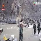 중국,휘장,국경