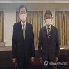 비핵화,북한,한일,외교장관,모테기