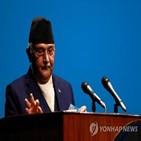 총리,올리,네팔,의회,대통령,실패,연정,구성